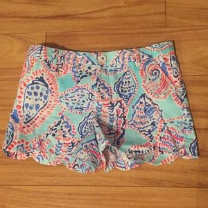 Lilly Pulitzer Scalloped Shorts Kids 12